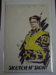 Marvel Sketch 'N' Sign Edition Cyclops Sketch Signed Keu Cha Ltd 25 COA X-Men